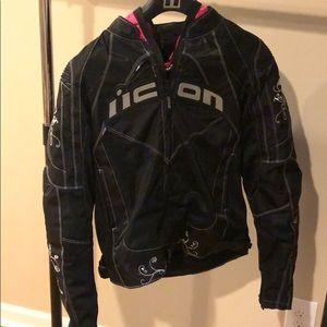 ICON Female motorcycle jacket. Size M. Worn once.